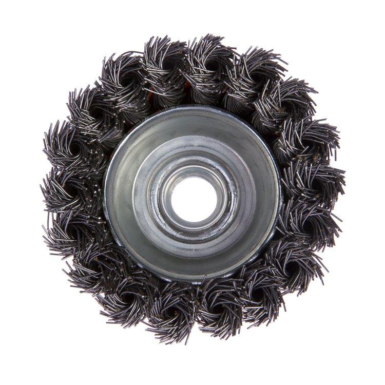 Щетка по металлу Дніпро-М 402 торцевая, плетенная пров. 75 мм фото №3
