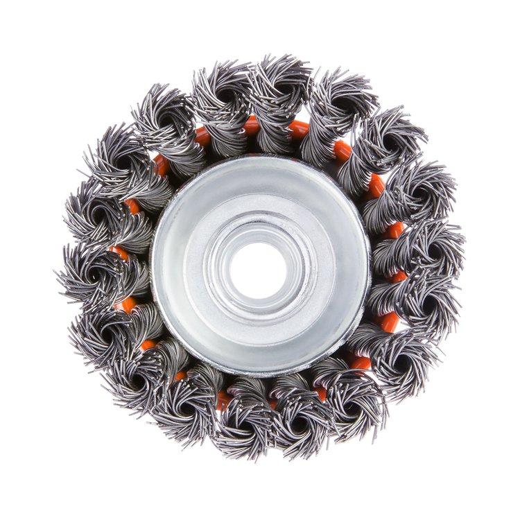 Щетка по металлу Дніпро-М 403 торцевая, плетенная пров. 85 мм фото №2