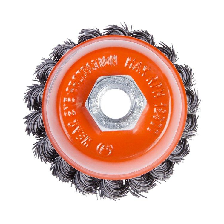 Щетка по металлу Дніпро-М 403 торцевая, плетенная пров. 85 мм фото №3