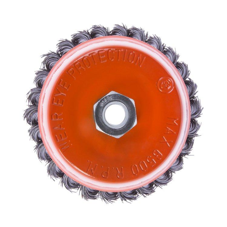 Щетка по металлу Дніпро-М 405 торцевая, плетенная пров. 125 мм фото №2