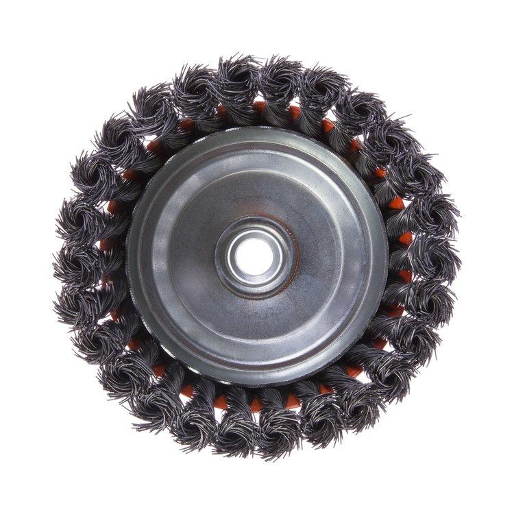Щетка по металлу Дніпро-М 405 торцевая, плетенная пров. 125 мм фото №3