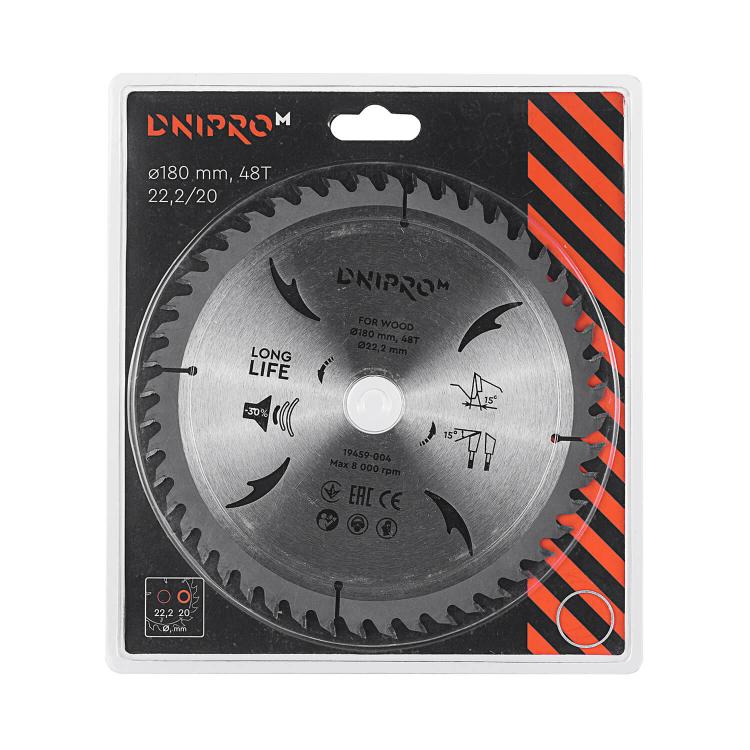 Пильный диск Dnipro-M 180 22.2 20.0 48Т фото №2