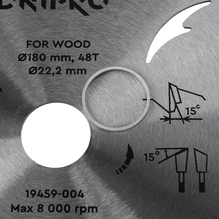 Пильный диск Dnipro-M 180 22.2 20.0 48Т фото №5