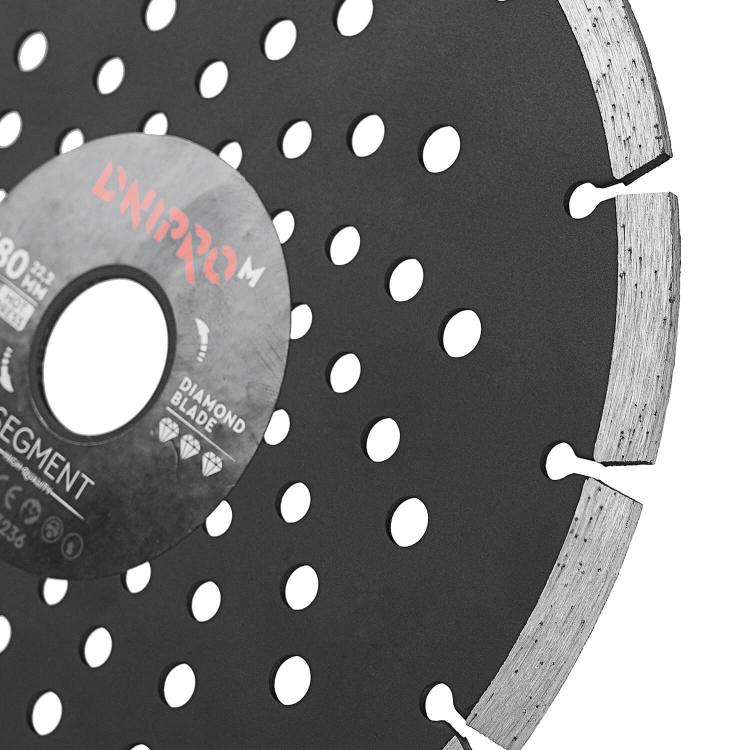 Шлифмашина угловая Dnipro-M GL-190S + Алмазный диск 180 22.2 Segment фото №5