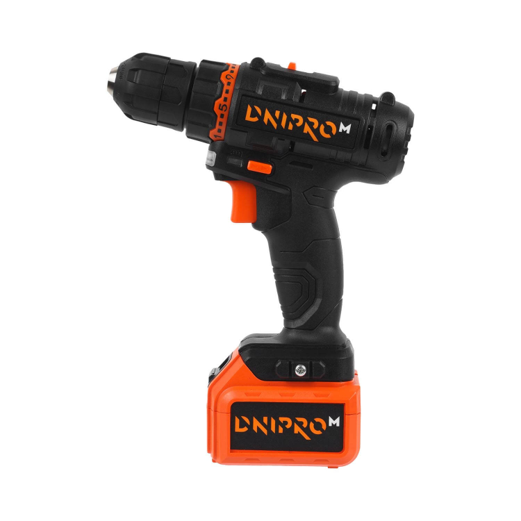 Аккумуляторная дрель-шуруповёрт Dnipro-M CD-182 + Рулетка Ultra 5 м*25 мм фото №3