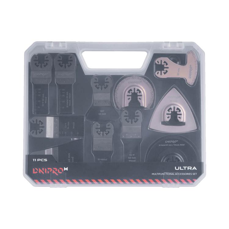 Набор насадок для многофункционального инструмента Dnipro-M ULTRA Cr-V, BIM (11 шт.)