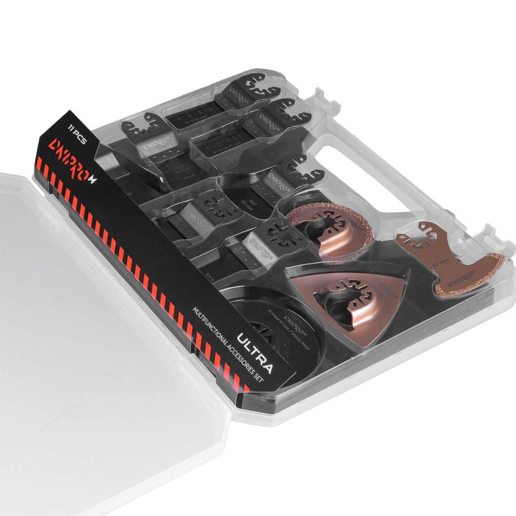 Набор насадок для многофункционального инструмента Dnipro-M ULTRA Cr-V, BIM (11 шт.) фото №5