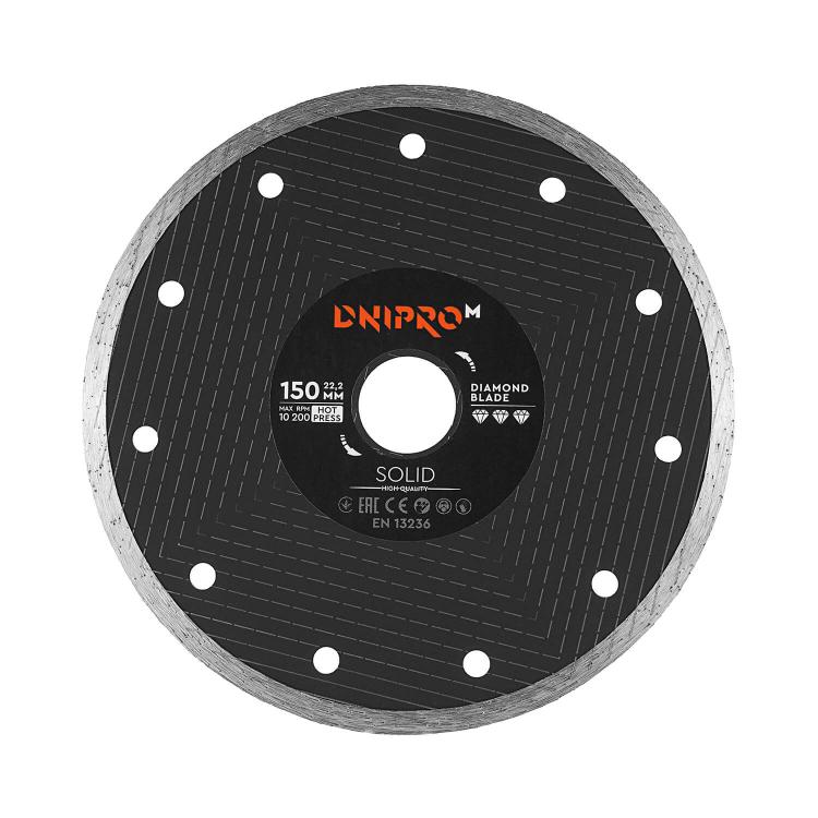 Шлифмашина угловая Dnipro-M GL-160SE + Алмазный диск 150 22.2 Solid фото №9