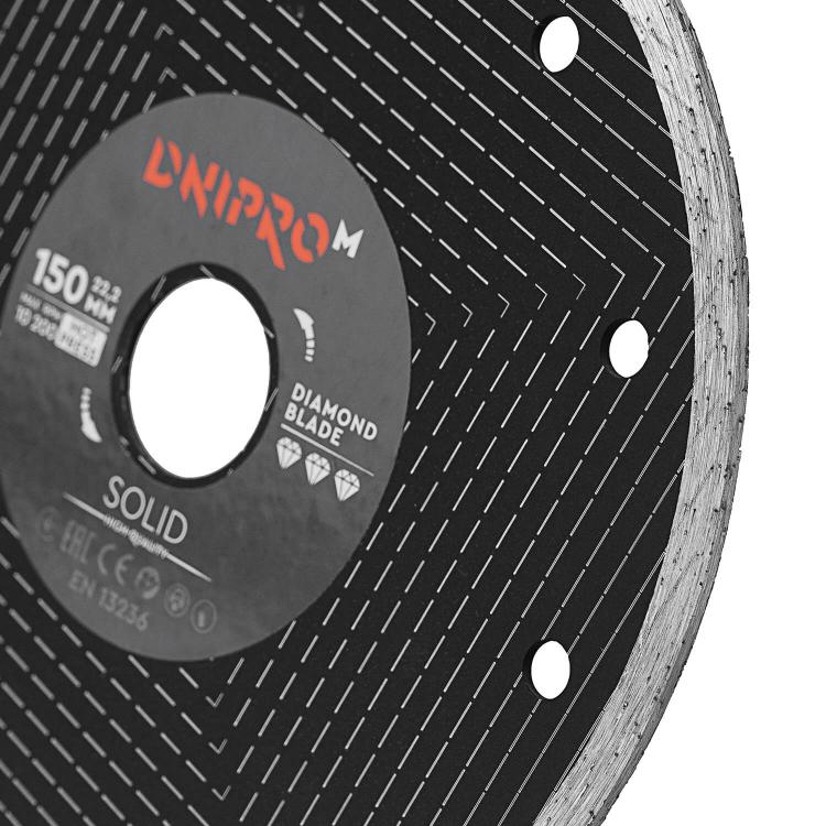 Шлифмашина угловая Dnipro-M GL-160SE + Алмазный диск 150 22.2 Solid фото №10