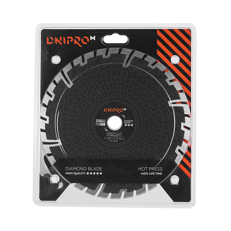 Шлифмашина угловая Dnipro-M GL-230 + Алмазный диск 230 22.2 Deep Cut фото №8