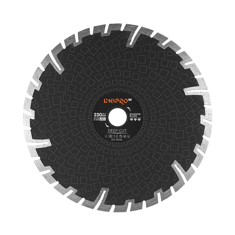 Шлифмашина угловая Dnipro-M GL-230 + Алмазный диск 230 22.2 Deep Cut фото №10