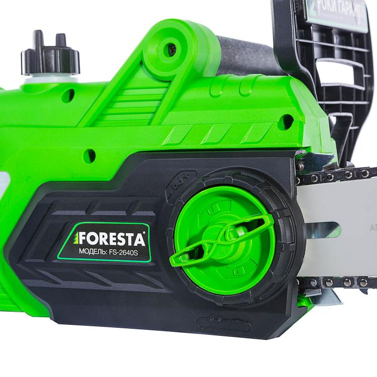 Электропила цепная Foresta FS-2640S + Перчатки антивибрационные + Масло фото №4