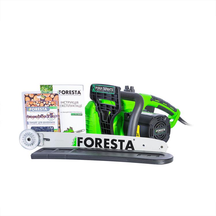 Электропила цепная Foresta FS-2640S + Перчатки антивибрационные + Масло фото №6
