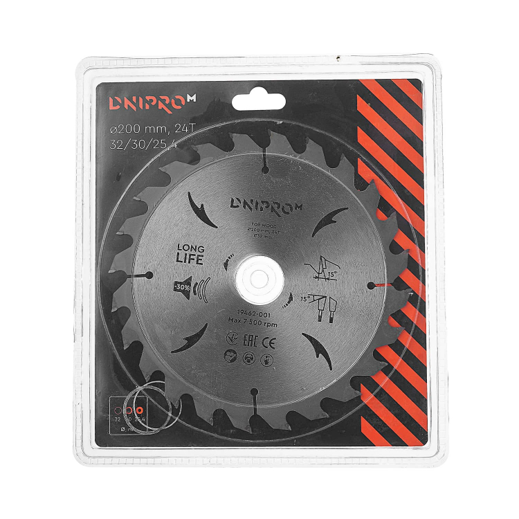Пильний диск Dnipro-M 200 мм 32 30 25,4 24Т фото №2