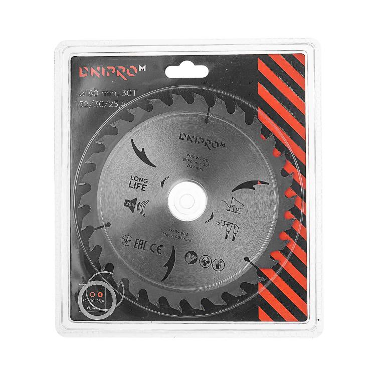 Пильний диск Dnipro-M 180 мм 32 30 25,4 30Т фото №2