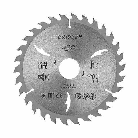 Пильный диск Dnipro-M 180 мм 32 30 25,4 30Т