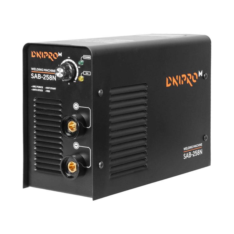 Сварочный аппарат IGBT Dnipro-M SAB-258N + Маска сварщика WM-39 + Магнитный угольник MW-99 + Электроды фото №2
