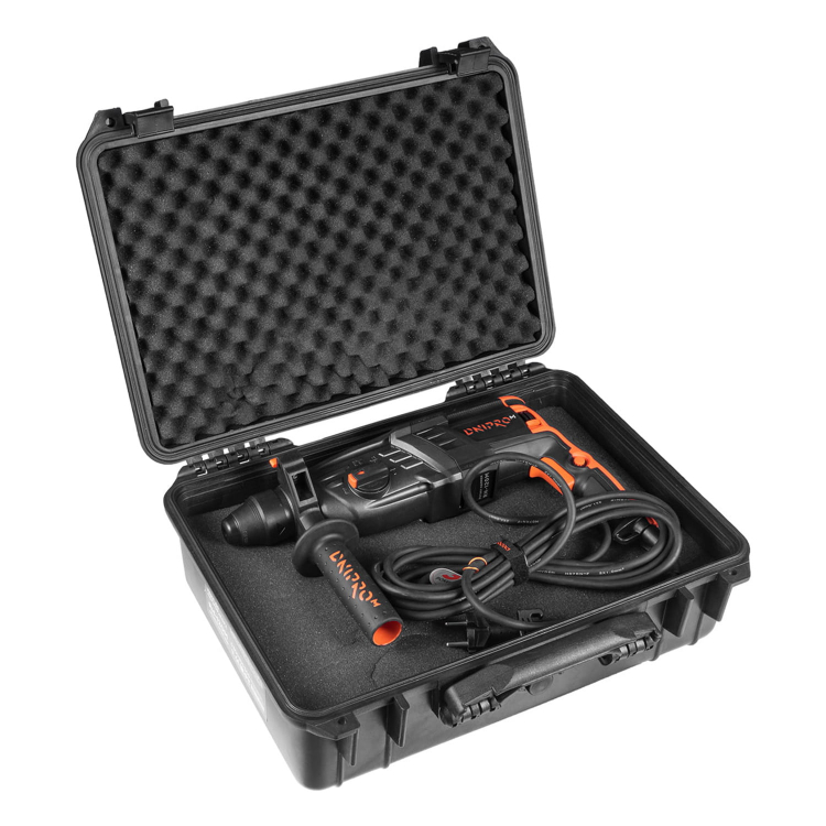 Перфоратор прямой Dnipro-M RH-120M + Кейс пластиковый