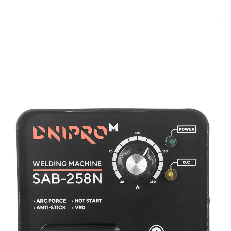 Зварювальний апарат IGBT Dnipro-M SAB-258N + Маска зварника WM-39 + Магнітний кутник MW-3414 + Електроди фото №3