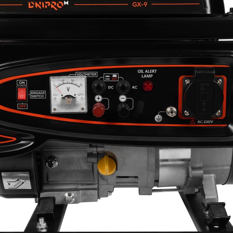 Генератор бензиновий Dnipro-M GX-9 + Стабілізатор релейного типу VR-80R фото №7