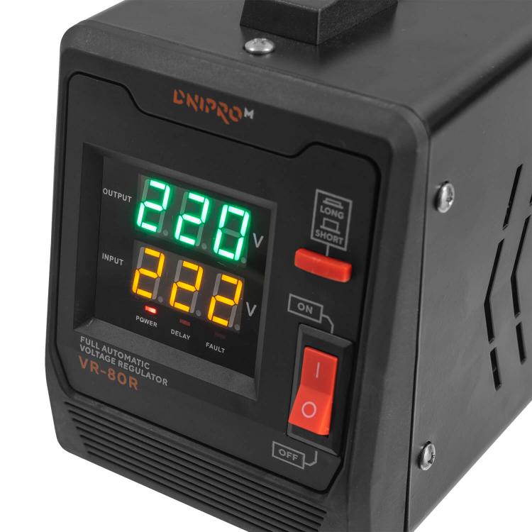 Генератор бензиновий Dnipro-M GX-9 + Стабілізатор релейного типу VR-80R фото №12