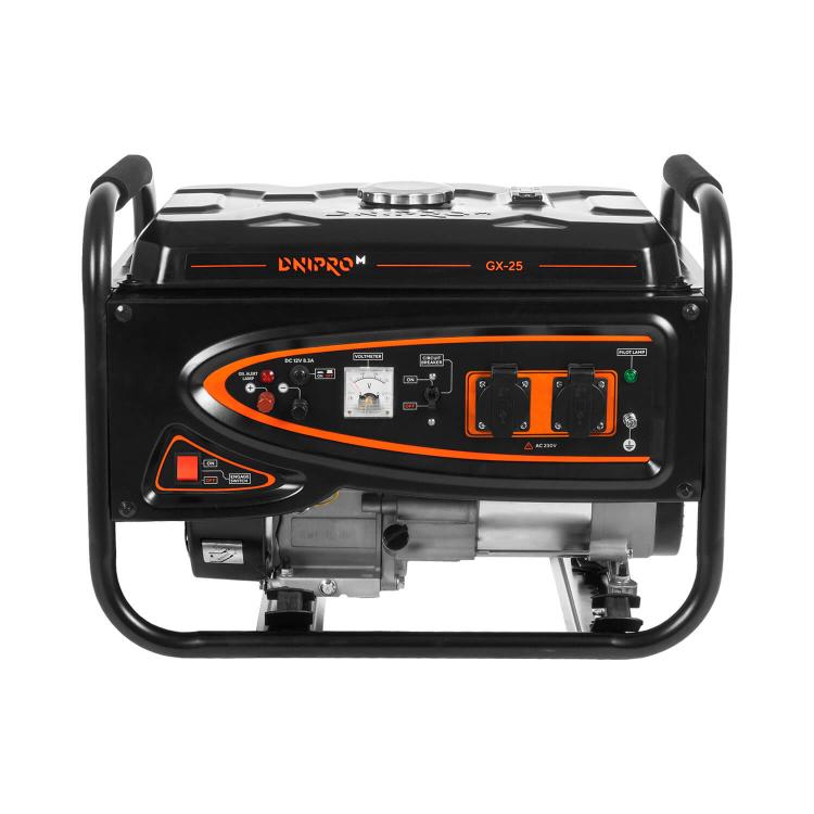 Генератор бензиновый Dnipro-M GX-25 + Шлифмашина угловая GL-145S + Перфоратор прямой RH-100Q фото №2