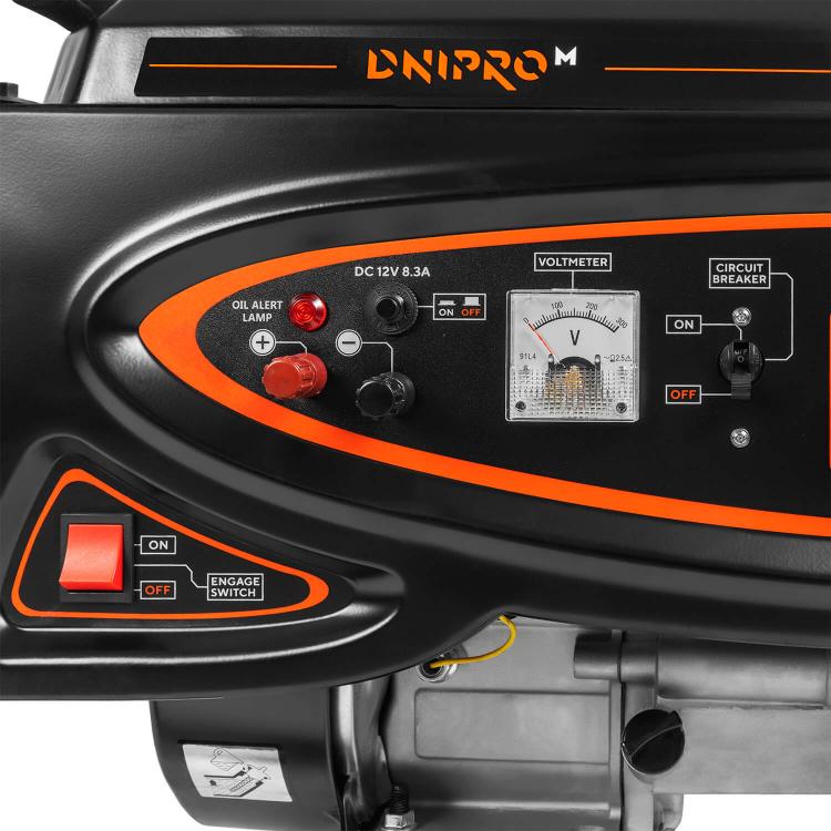 Генератор бензиновый Dnipro-M GX-25 + Шлифмашина угловая GL-145S + Перфоратор прямой RH-100Q фото №7