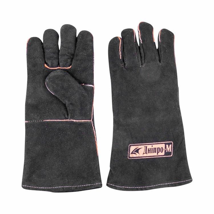 Перчатки сварщика Краги Дніпро-М чёрные фото №2