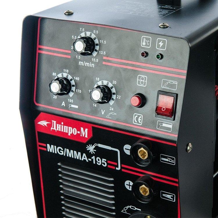 Полуавтомат инверторный IGBT MIG/MMA Дніпро-М 195 (2in1, IGBT) фото №5