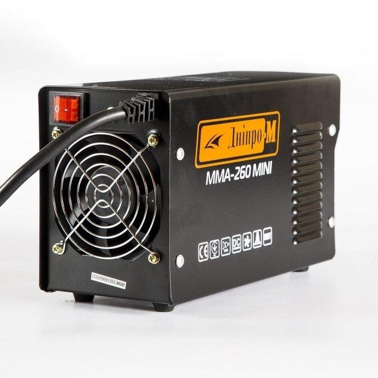 Сварочный инвертор Дніпро-М ММА-260 Mini + Маска + Магнитный угольник фото №5