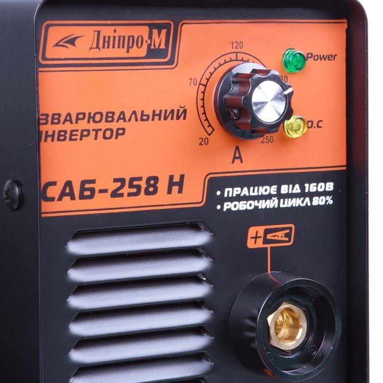 Сварочный аппарат IGBT Дніпро-М САБ-258Н + Маска сварщика Дніпро-М МЗП-390 фото №6