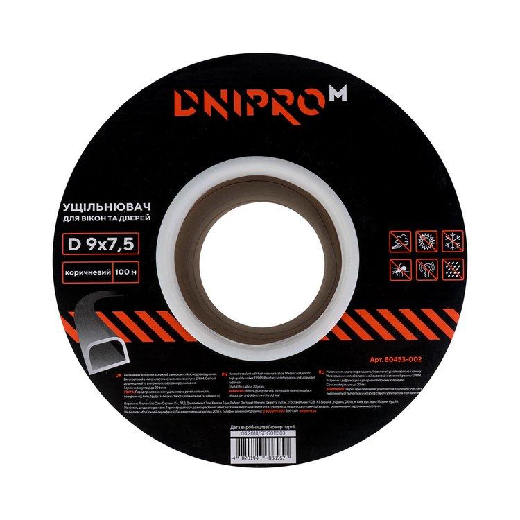 Уплотнитель самоклеющийся Dnipro-M D 100 коричневый 9*7,5 мм