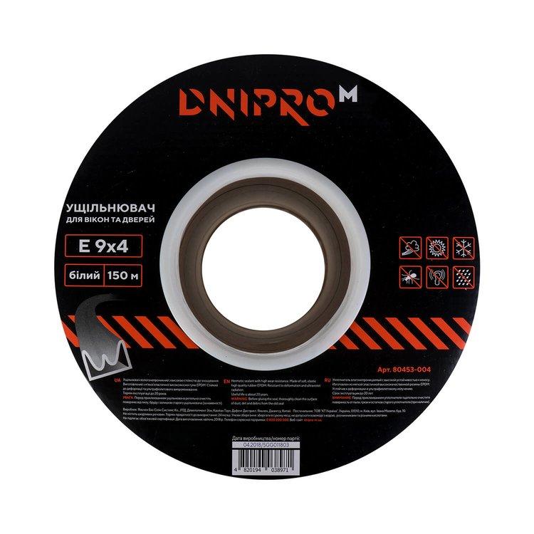 Уплотнитель самоклеющийся Dnipro-M Е 150 белый 9*4 мм
