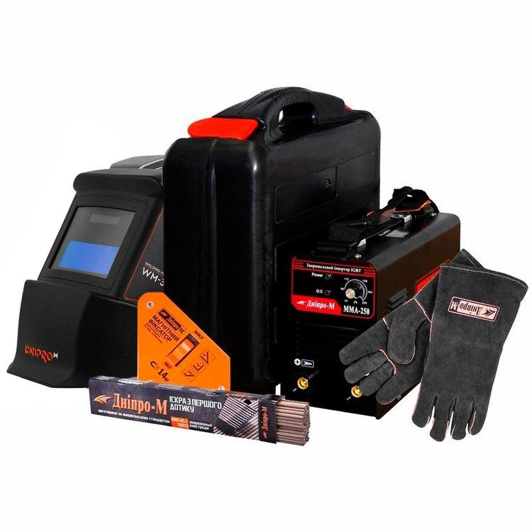 Сварочный аппарат IGBT Дніпро-М ММА 250 B + Подарки