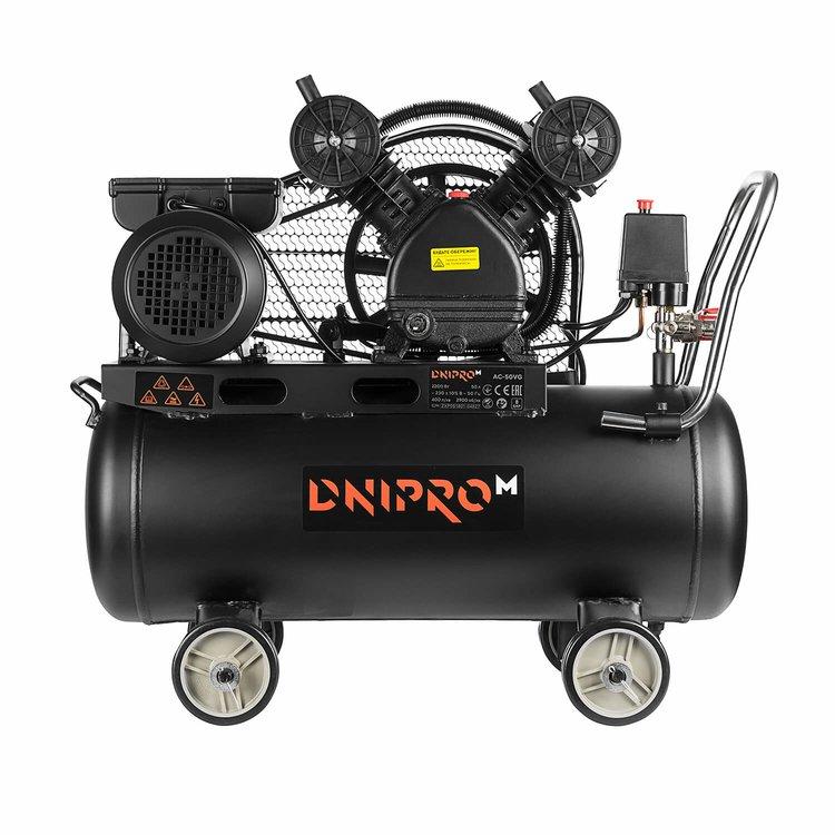 Компрессор воздушный Dnipro-M AC-50 VG + Набор пневмоинструмента НП-5П фото №4