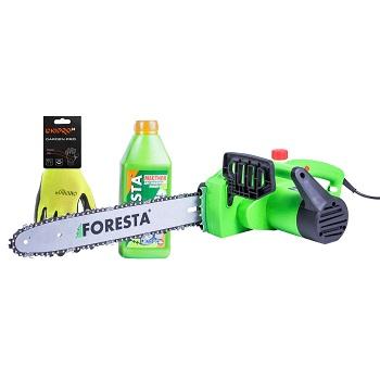 Электропила цепная Foresta FS-1835S + Перчатки + Масло