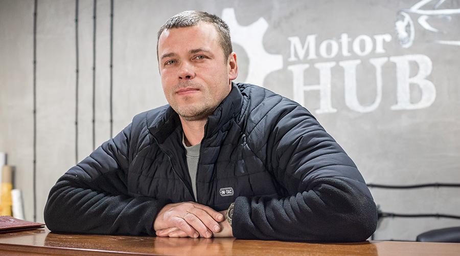 """Керівник СТО """"Motor HUB"""" Віталій Юдін"""