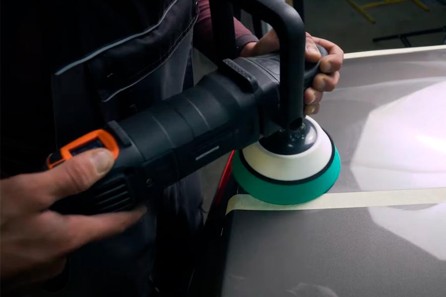 Полірування автомобіля полірувальною машиною Dnipro-M PM-182CSD