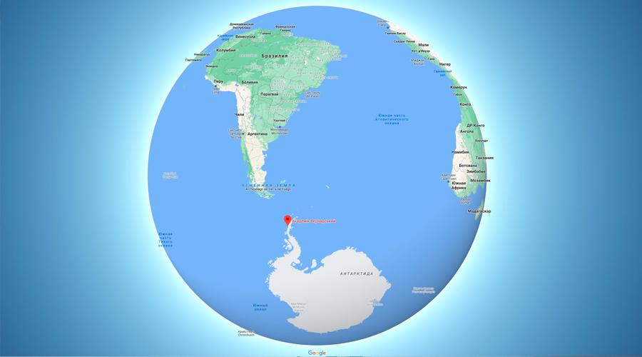 Станція розташована на о. Галіндез біля Антарктичного півострова