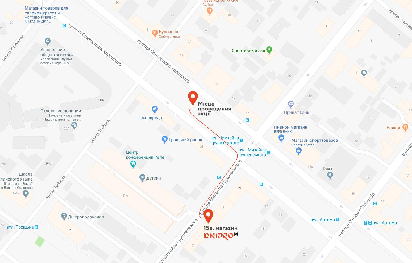 Карта Дніпра
