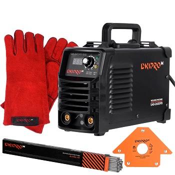 Сварочный аппарат IGBT Dnipro-M SAB-260DPB + Перчатки + Магнитный угольник + Электроды