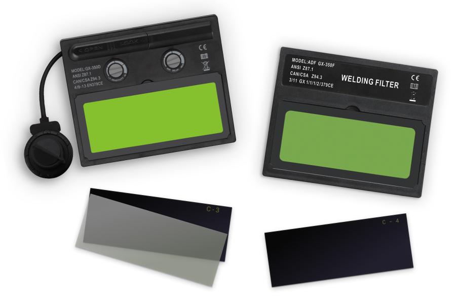 Фото нескольких светофильтров - затемненных стекол, автоматических.