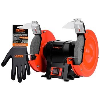 Станок точильный Dnipro-M BG-20 + Перчатки Ultra Grip