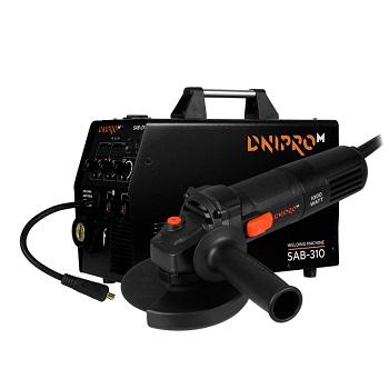 Полуавтомат инверторный IGBT MIG/MMA Dnipro-M SAB-310 + Шлифмашина угловая GS-100