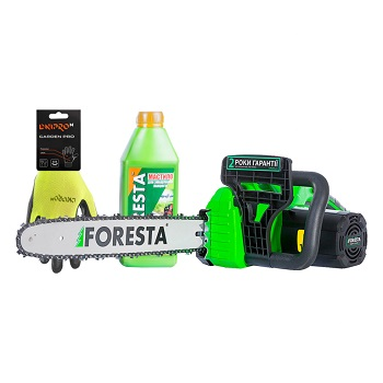 Электропила цепная Foresta FS-2640S + Перчатки + Масло