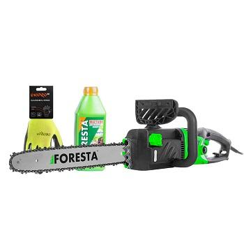Электропила цепная Foresta FS-2840D + Перчатки + Масло